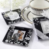2pk Timeless Traditions Glass Photo Frame Coasters