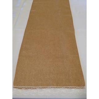 2 4m Lace Edge Burlap Vintage Table Runner Burlap And