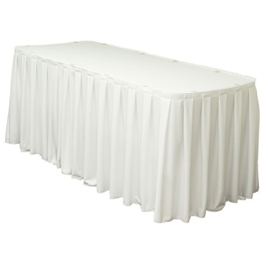Table Skirting Box Pleat