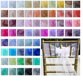 10pk Organza Chair Sashes 18cm x 275cm