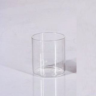 12pk Mini Cylinder Glass Tealight Votive Candle Holders