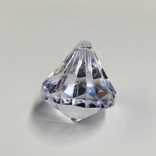 Large Clear Diamond Table Scatters with beading hole 1kg (approx 70pcs)