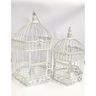 Florence Bird Cages - Set of 2