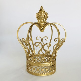 Gold Crown Centrepiece Decoration - Small