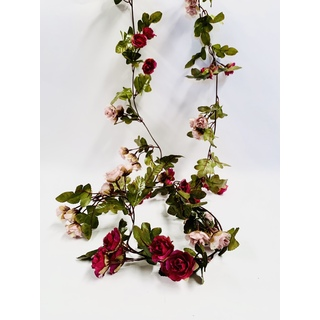 Vintage Rose Greenery Garland