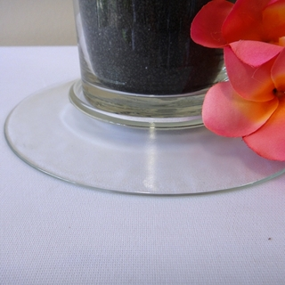 Glass Vase Base for 10cmD Cylinder Vase