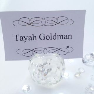 Crystal Sphere Guest Name Placecard Holder