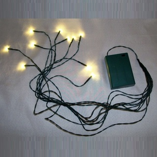 Octopus LED Fairy Lights 10 LED - Green with White Lights