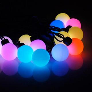 Festoon Party Lights Multi-Colour LED Round Bulbs