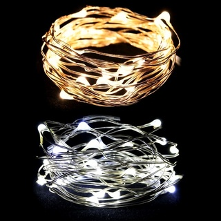 3m Wire Fairy Lights 30 LED Bulbs Battery Operated