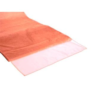 Golden Coral Organza Table Runner 27cm x 3m