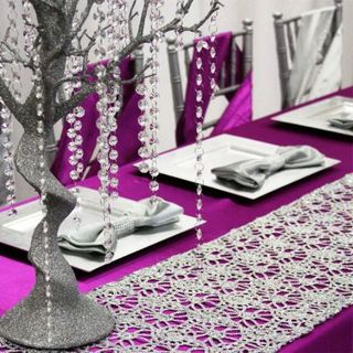 Sequin Lace Table Runners